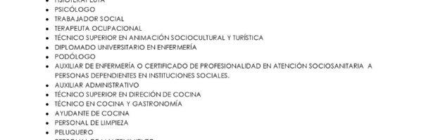 Recogida de currículum Residencia Geriátrica