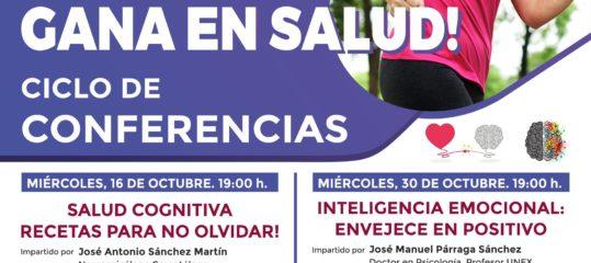 Ciclo de conferencias 'Gana en salud!'