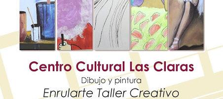 Exposición de dibujo y pintura 'Enrularte, Taller creativo'