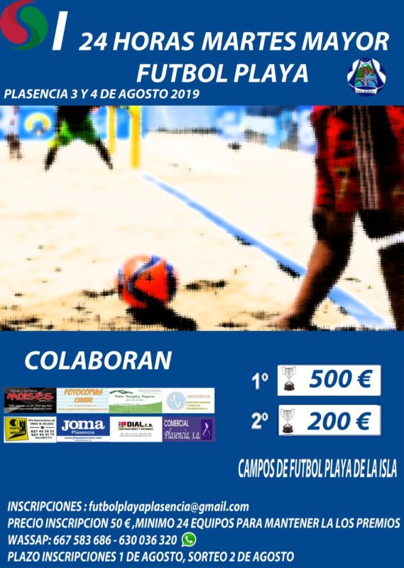 Fútbol Playa martes Mayor Plasencia