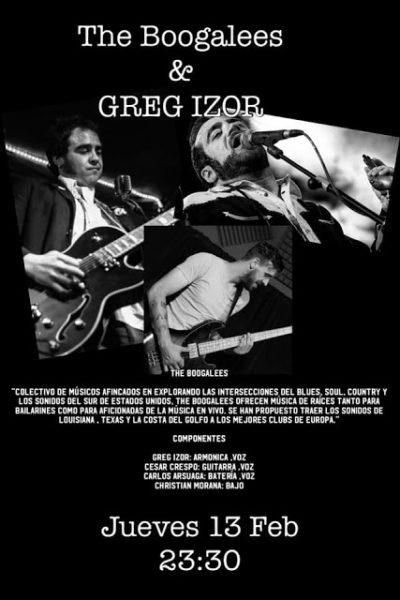 Concierto The Boogaless & Greg Izor