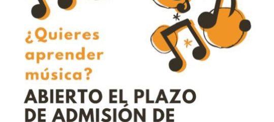 Abierto plazo de inscripción del Conservatorio de Música