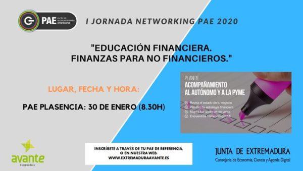 I Jornada Networking 'Educación financiera, finanzas para no financieros'.