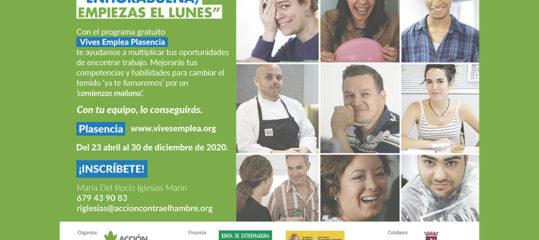 Abierto el plazo de inscripción del programa Vives Emplea Plasencia