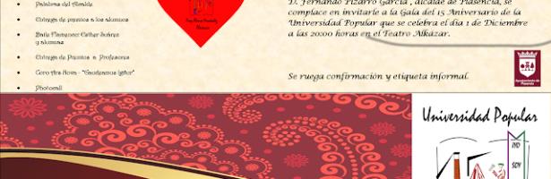 Gala 15 aniversario Universidad Popular de Plasencia