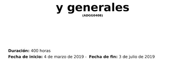 Curso Certificado de Profesionalidad Operaciones auxiliares de servicios...