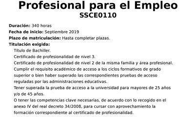 Curso para trabajadores: Docencia de la formación profesional para el empleo