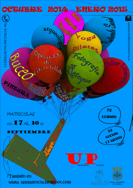 Cursos Universidad Popular Plasencia 2014