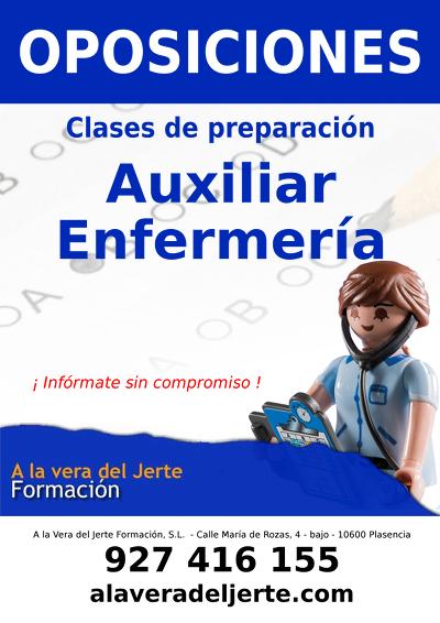 Oposiciones Auxiliar Enfermería Junta Extremadura