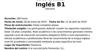 Curso Inglés B1